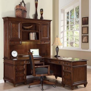 1283-48/44 Westhaven  L-Desk with Hutch