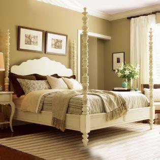 Long Cove-White  Poster Bed (침대+협탁+화장대) ~봉높이 조절가능~ ~Fine Quality~