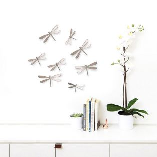 470787-558 Wallflutter-Nickel-8 Wall Décor