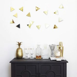 1004369-104  Confetti Triangles-Brass-16 Wall Decor
