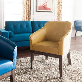 Dorian-Mustard  Accent Chair