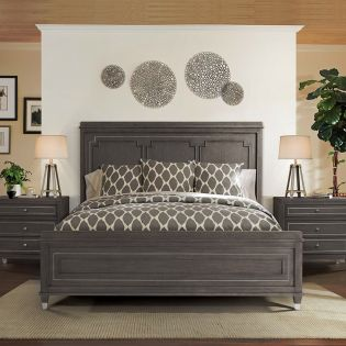 Dara Two 6058  Panel Queen Bed (침대+협탁+화장대)