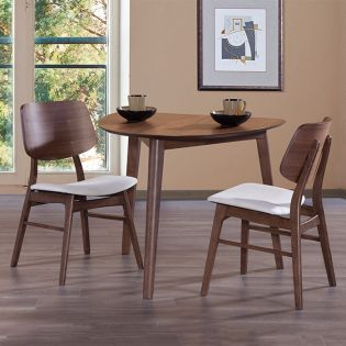 Oscar D1651-2  Dining Set (1 Table + 2 Chairs)