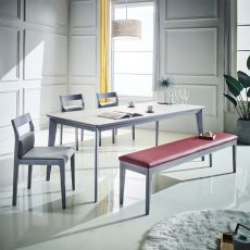 Liancrema  Ceramic Dining Set (1 Table + 3 Chairs + 1 Bench)