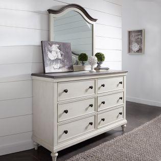 8940-1100 Brookhaven  Dresser + Mirror