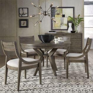 Greystone 9740P  Round Dining Set  (1 Table + 4 Side)