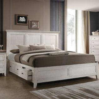 SM-8865  Panel Bed (침대+협탁+화장대)