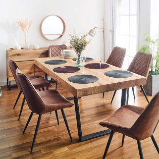 CW083N-6  Dining Set  (1 Table + 6 Chairs)