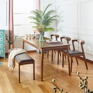 A9-6  Dining Set (1 Table + 3 Chair + 1 Bench)