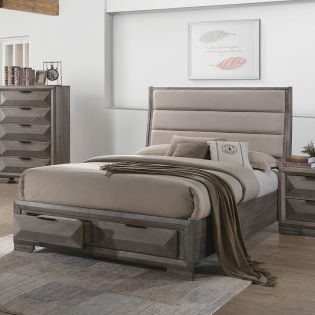 Carter  Queen Panel Bed w/ Storage  (침대+협틱+화장대)