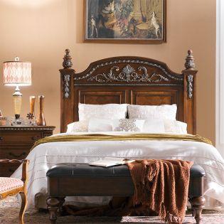 B8168-Brown-HB  Queen Panel Bed
