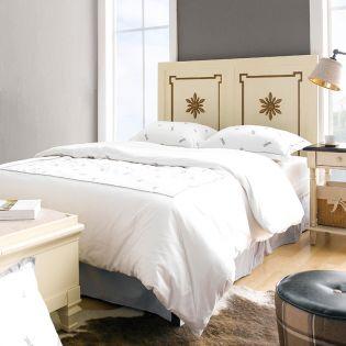 Cream & Gold-HB   Single Panel Bed