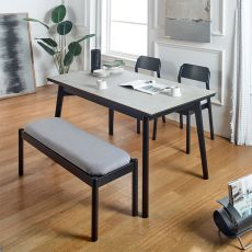 Obey-4-Ceramic  35 Dining Set  (1 Table + 2 Chair + 1 Bench)