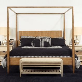 Modern Country  Queen Canopy Bed (침대+협탁+화장대)