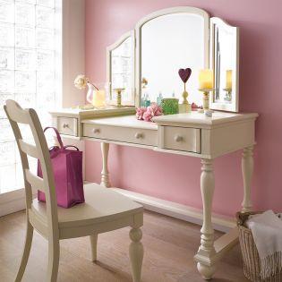 Y1858-30  Desk + Chair  Set (No mirror)