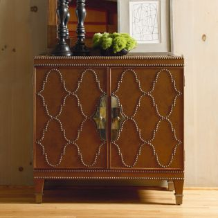 8561-420  Faux Leather Chest