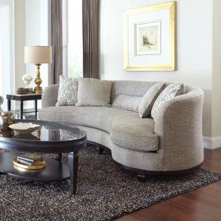 502501-5015 Blair Fawn  Kidney Sofa