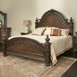 692 Veneta King Poster Bed (침대+협탁+화장대)