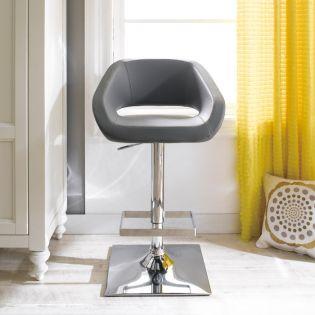 20728-Grey-Gustavo  Adjustable Bar Stool