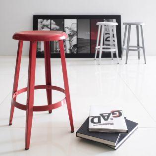 74094-Red-Declan  Counter Stool ~Steel~