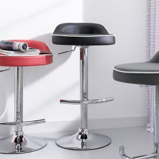 64982-Black-Solina  Adjustable Bar Stool
