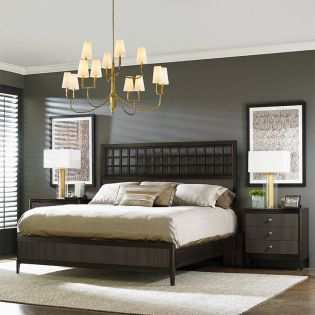 409-13 Wicker Park  Panel Bed (침대+협탁+화장대)