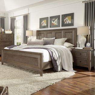 B3744  Queen Panel Bed (침대+협탁+화장대)