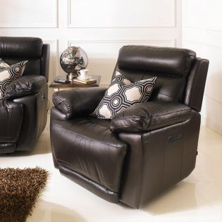 E1460-Brown  Power Leather Recliner Chair