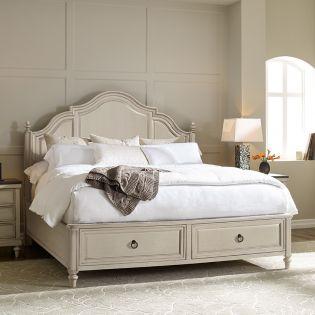 6401-4126K Brookhaven Panel Bed w/Storage (침대+협탁+화장대)