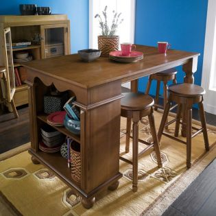 D363-Oak  Island Dining Table Only