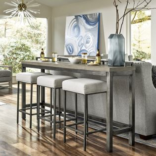 Mitchell 749803  Console Table Set (1 Table + 3 Stools)