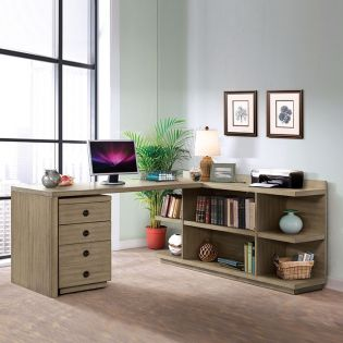 281-33/34 Perspectives Return Desk & Bookcase