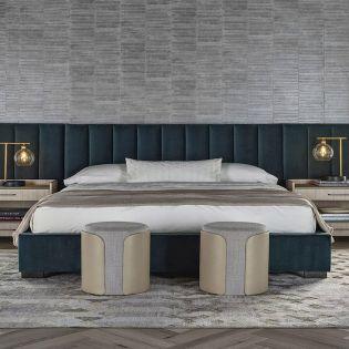 Nina Magon 941230BW   Upholstered Wall Bed (침대 + 협탁 + 화장대) (Wings option)