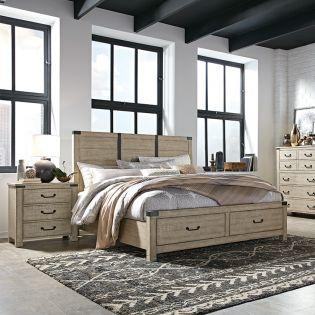 B5005  Panel Storage Bed  (침대+협탁+화장대)