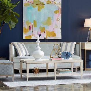700501 Morgan Blue  Sofa