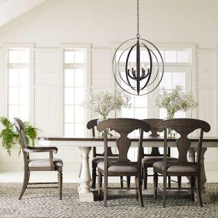 Brookhaven 6400-622K  Dining Set  (1 Table +2 Arm +4 Side)