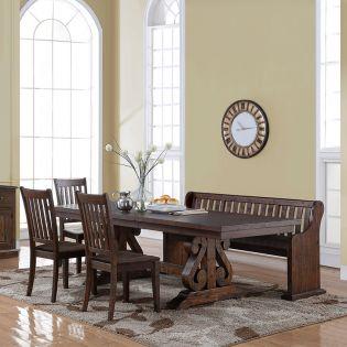 San Juan  Dining Set  (1 Table + 3 Chairs + 1 Bench)