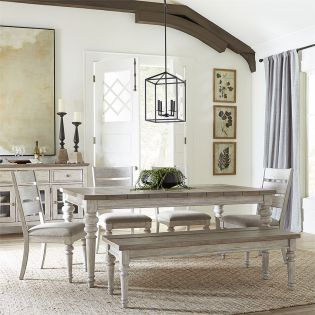 824  Dining Set  (1 Table + 4 Chairs + 1 Bench)