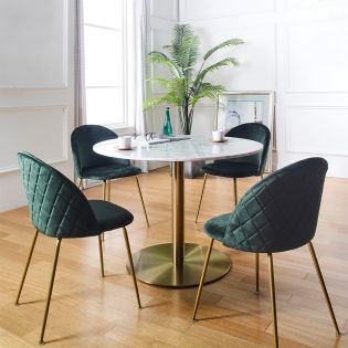 Corby-4  대리석 Dining set (1 Table + 4 Chairs)
