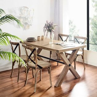 CW045N-4  Dining Set   (1 Table + 4 Chairs)
