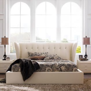 1200  Leather King Bed