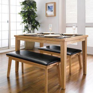 Robin-4  Dining Set (1 Table + 2 Bench)