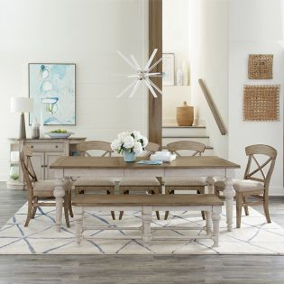 589 Southport  Dining Set   (1 Table + 4 Chairs + 1 Bench)