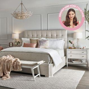 Miranda Kerr 956A310  Queen Uptown Bed  (침대+협탁+화장대)
