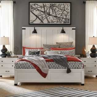 B5321  Panel Bed (침대+협탁+화장대)