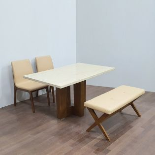 D7301-4  Dining Set  (1 Table + 2 Chairs + 1 Bench)