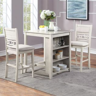 D1701-32 GIA-2  Counter Dining Set  (1 Table + 2 Chairs)