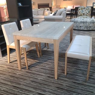 D7730-4  Dining Set  (1 Table + 2 Chairs + 1 Bench)