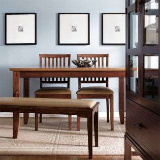 D644-4-Brown  Dining Table