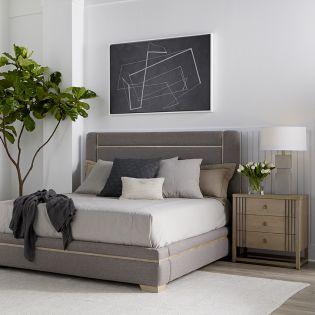 North Side 269125  Panel Bed  (침대+협탁+화장대)